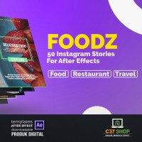 FOODZ 50 Instagram Stories | Videohive After Effect Template
