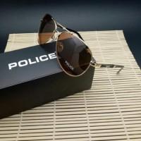 Kacamata Sunglass Sunglasess Police 1382 Polaris Cokelat