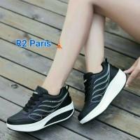 Circle Apparel Sepatu Wanita Casual Hitam Abu Putih - T3 Size 36 - 40