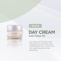 Day 50 Satin Glow Ellaskincare/ Sunblok Spf 50 Kulit Kering