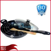 Airlux Magic Pan Aluminium Panci Teflon Besar 32cm MP32 Hitam