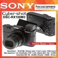 SONY Cyber-shot DSC-RX100M3 RX100 III Black Garansi Resmi 1th