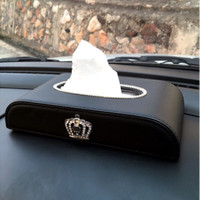 Kotak Tisu Mobil Tissue Box Kulit Sintentis D BLINK DAD CROWN MAHKOTA