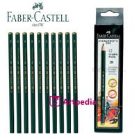 Pensil Kayu Faber Castell 2B 1 Pack isi 12 - Pensil 2B Pensil Kayu 2B
