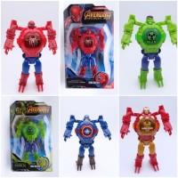 Jam tangan Anak robot avengers lampu superhero JMR003BU - hulk