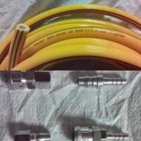 Selang Kompresor 10 Meter + Connector couple nepel 2 Set 3 Lapis