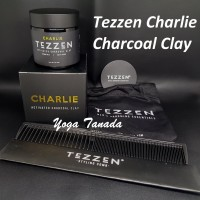 Pomade Tezzen Charlie Activated Charcoal Clay Matte (FREE SISIR CARBON