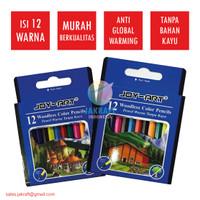 Pensil Warna Anak Pendek Joy Art Isi 12 Murah Berkualitas Kartun Super