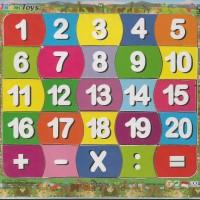 Mainan Kayu Anak Edukasi / Edukatif - Puzzle Sticker Angka 17x20