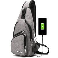 Tas Pria USB selempang slempang Cross body slingbag bahu Import S08M