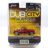 JADA 1/64 DUB CITY KUSTOMS HUMMER H3T CONCEPT - MERAH