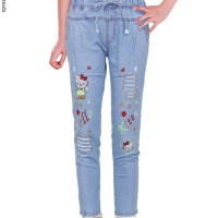 celana jeans anak perempuan celana anak tanggung 5-12th