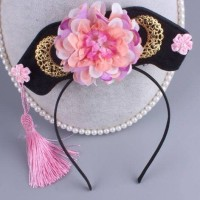 Aksesoris Fashion Rambut Anak Bando CNY Pink Ungu Konde Sabit