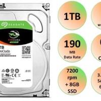 Spesial Seagate Firecuda 1TB SSHD HDD SSD Garansi 5 Tahun