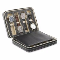 Kotak Jam Tangan Leather Travel Watch Case for 8 Watches Seiko