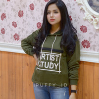 sweater wanita artist study army fashion terbaru