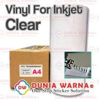 VINYL CLEAR TRANSPARAN PRINTER INKJET DYE INK PIGMENT ARTPAPER A4 ROLL