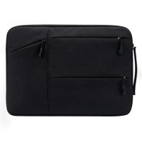 Tas Laptop Jinjing Pocket Black Nylon Waterproof 14 inch