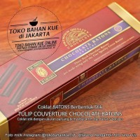 Coklat Stik Chocolate Batons Couverture Sticks Tulip EOC 52% - 500 gr