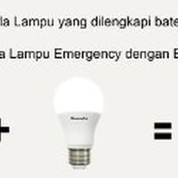Hannochs Genius Bohlam LED 8 watt Lampu Emergency AC DC