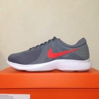 Harga dijual sepatu running lari nike revolution 4 cool grey red 908988   Pembandingharga.com