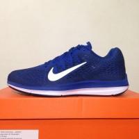 Harga dijual sepatu running lari nike zoom winflo 5 gym blue aa7406   Pembandingharga.com