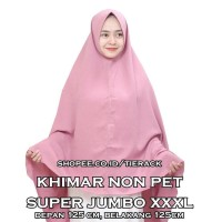 KHIMAR SUPER JUMBO NON PET WOLFIS (JILBAB MODEL SYIRIA) CHRISTIAN