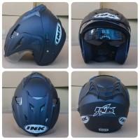 helm ink cx22 t1 double visor kw super hitam doff mumer gaya b Bagus