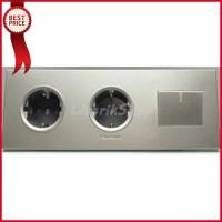 Stop Kontak Dobel Saklar Engkel Panasonic Style Silver