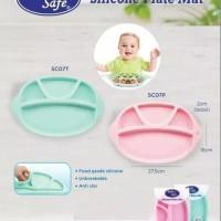 Baby safe silicone plate mat piring makan bayi
