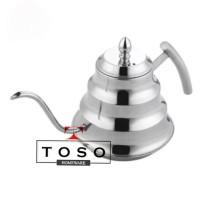 Pour Over Water Kettle Teko Leher Angsa Coffee Pot Teko Kopi Aladin