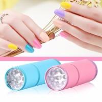 Senter Mini Ultraviolet - 9 LED / Mini Alumunium UV Flashlight