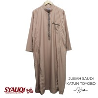 JUBAH SAUDI KATUN TOYOBO KREM   koleksi Syauqi
