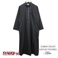 JUBAH SAUDI KATUN TOYOBO HITAM   koleksi Syauqi