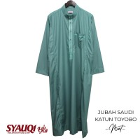 JUBAH SAUDI KATUN TOYOBO MINT   koleksi Syauqi