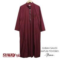 JUBAH SAUDI KATUN TOYOBO MARUN   koleksi Syauqi