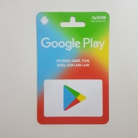 Voucher Fisik Google Play Store 50rb Kartu Gift Card Aplikasi Game
