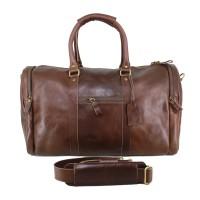 Travel Bag Big Size Dark Brown - Kenes Leather
