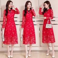 Dress Cheongsam Qipao Model Vintage Up To 5XL