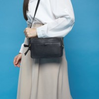 Gammara Leather Sling Bag - Cempaga (Black) b54281957e