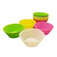 Silicone cup for dish 12 pcs - Round
