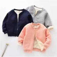 Jaket Hangat Bayi Winter Warm Velvet Sweater Jacket Import!