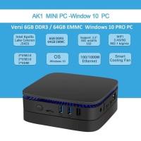 Mini PC Celeron Apollo Lake J3455 AK1 versi 6GB 64GB Windows10 Pro