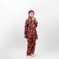 Jas hujan setelan celana anak loreng warna / GRC - 84001