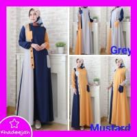 Baju Muslima Terbaru 718 - Baju Gamis Wanita 718