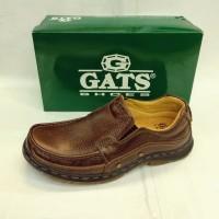 Sepatu Gats BR5502 sepatu kerja pria bahan kulit warna brown