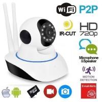 CCTV Ip Cam Camera 720p Wireless Rotating 360 HD Wifi Kamera Pengintai