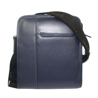 Condotti C-94182 Leather Sling Bag-Blue