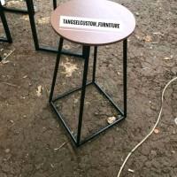 meja cafe/bar/teras bundar/bulat/round table