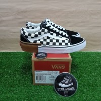 4be26d28b18 VANS OLD SKOOL CHECKERBOARD GUM BLOCK 100% ORIGINAL FREE KAOS KAKI